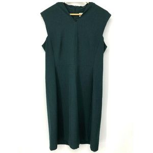 MM Lafleur Womens Dress Green Size 14 Sleeveless